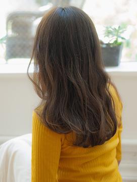 透け感大人可愛い小顔ひし形ブルーアッシュ20代30代40代髪質改善