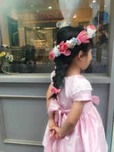 お花とリボン編み込み キッズアレンジ♪【neolive collet 】 リボン.44