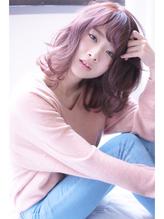 [vicushair]春髪pink×グレージュ×ラフ外巻きロブ .5