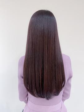 【malloii】ラズベリーピンクショコラ暗髪ストレートロング