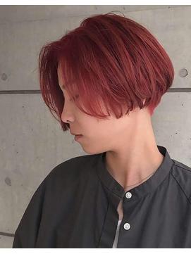 【KAILA】高野 ピンクハンサムショートレトロボブ