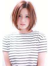 【センターパート】×【大人かわいいボブ】×【ノームコア】 .27