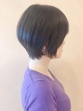 【morio鶴瀬】黒髪ツヤサラ前下がりショートボブ.38