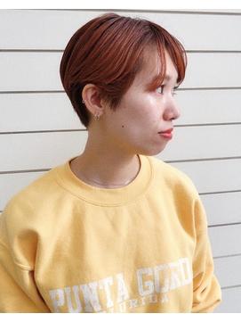 【JUNO】秋冬 オレンジカラー × ハンサムショート