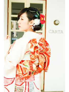 carta..成人式へアセット+着付け+メイク。asarisaアクセ提案◯