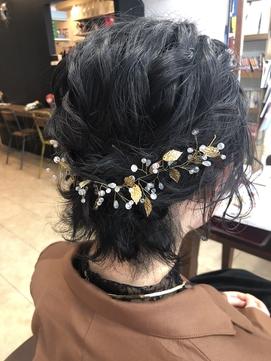 黒髪ショートヘアセット♪ 【延山styling】