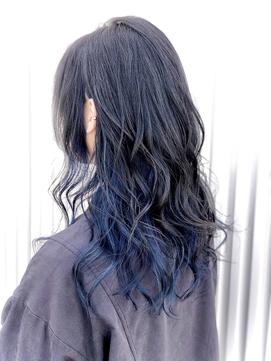 インナーカラー♪ブルー