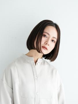 顔型別ヘアスタイル特集/マロンベージュ/Aラインボブ/池袋