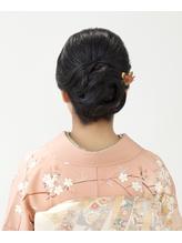 【訪問着ヘア】女性らしい控えめ着物ヘア .4