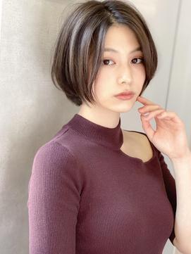 《Agu hair》色っぽワンレンアッシュショート