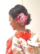 編み込みいりシニヨン .29