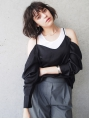 【LOAVE】 外国人風 ミニボブ × ニュアンスパーマ