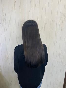 黒髪暗髪透明感カラー×清楚系ストレートロング