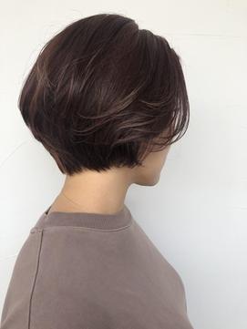 short bob × 春カラー
