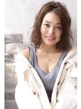 【ALMO】センターパートほつれセミディ.50