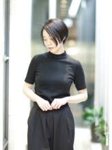【PHASE/石田康博 】30代40代の素敵な前下がりショートボブ! 40代.35