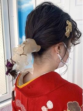 〈NOB伊勢佐木町〉卒業式袴着付けヘアセットヘアアレンジ