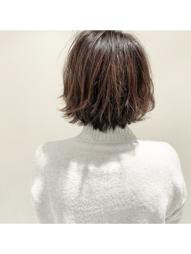 マッシュレイヤースタイのパーマヘア
