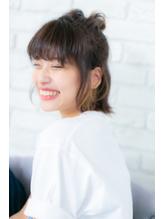 【canon】切りっぱなし外ハネボブ☆夏のハーフアップアレンジ.6
