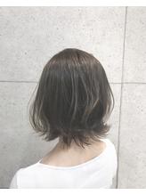 【Euphoria 金沢】グレージュカラーの切りっぱなし外ハネボブ☆.17