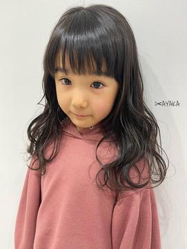 子供前髪くびれイヤリングカラーイメチェンラベンダーカラー
