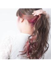 TECHRISE★インナーカラー♪アッシュ×ベイビーピンクby角谷 巻き髪.26