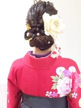 卒業式 袴着付け くるりんぱ【sola:neolive相模大野店】 モテ髪.38