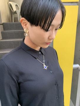 bibito 黒髪マニッシュなハンサムショート フレンチボブ