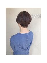 ニュアンスパーマで柔らかショートヘア hair江嶋.16