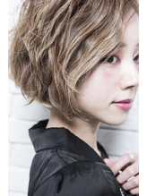 【mielhair新宿】ミルクティーカラー☆モードショートボブ♪ .39