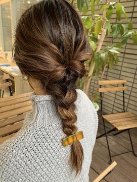 【hair salon W】三つ編みアレンジ