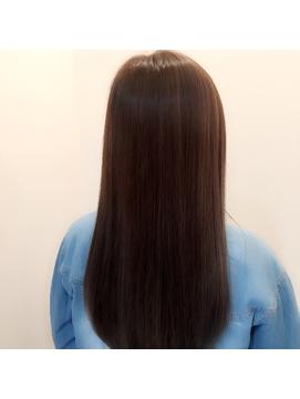 透明感×艶カラー☆流し前髪フェミニンロング