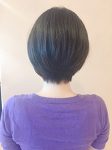 【morio鶴瀬】黒髪ツヤサラ前下がりショートボブ.36