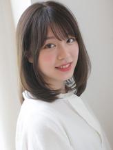 【浅沼】 大人かわいい 小顔 ミディアムレイヤー .7