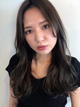 【VEIN】小顔 イルミナカラー ダブルバング ブランジュ 大人青山