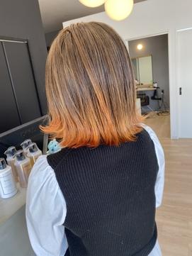 グラデーションカラーカラー×オレンジグラデーション