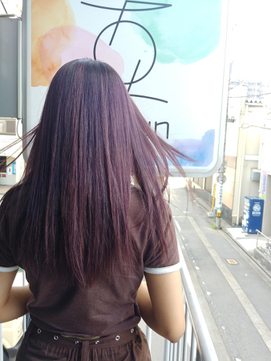 【gokan金沢/ナカシマ】美髪/お洒落パープルレッドカラー金沢駅