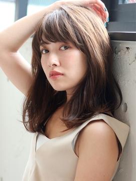 小顔デジタルパーマ☆前髪黒髪イメチェン大人セミロング♪