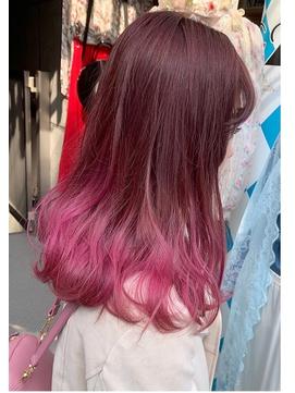【FACTORY】 ピンク ブリーチ☆インナーカラー/ユニコーン