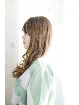 小顔グラデーションカラーバターブランジュ美髪ダブルバング/172