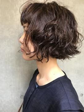 bibito 前髪デジタルパーマAラインボブ ワンカール ソバージュ