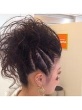 夏祭り盛り髪アップ 盛り髪.36