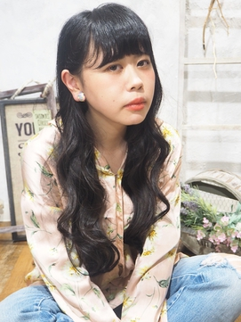 黒髪ロングワンサイド【altino 国分寺】