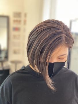 大人女性/グレージュ/インナーカラー/ココアカラー/白髪ぼかし