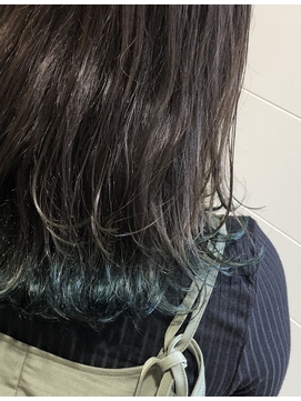 グリーン裾カラー×セミディ  arc by neolive 荻窪