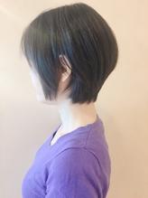 【morio鶴瀬】黒髪ツヤサラ前下がりショートボブ.37