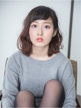 【+Reeshair】眉上バング×ミディアムパーマスタイル 前髪パーマ.34