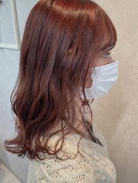 〈Chainon.〉艶髪★透け感ピンクボルドー◎