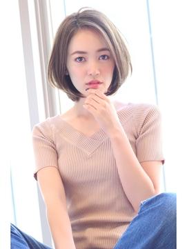 【Grow】高橋 苗 小顔にみえる前髪なしショートボブ☆