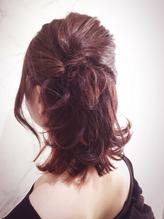 ピンクインナーカラーがポイントのハーフアップアレンジ☆ まとめ髪.58